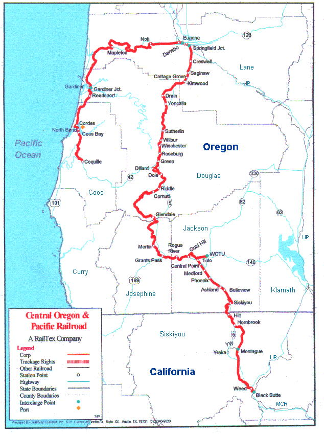Maps - Map of railroad tracks in us